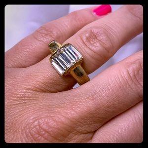 Henri Bendel Domed Baguette Ring